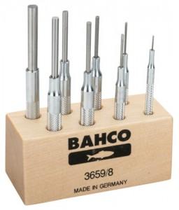 3659/8 Σετ ζουμπάδων με ραβδωτή λαβή - 8 τεμάχια/πλαστικό Stand BAHCO