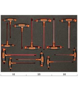 FF1A1011 FitandGo 3/3 εξάγωνα/TORX T-χειρολαβή κατσαβίδια σετ - 12 τεμάχια BAHCO
