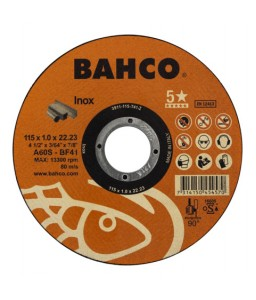 3911-115-T41-I υψηλής απόδοσης σμυριδόδισκοι κοπής για Inox BAHCO