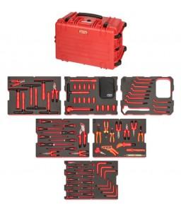 4750RCHDW02RF1V Βαριάς χρήσης σκληρή βαλίτσα VDE μονωμένο σετ εργαλείων - 79 τεμάχια BAHCO