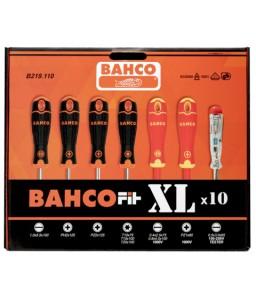 B219.110 BahcoFit ίσια/Phillips/Pozidriv/TORX® κατσαβίδια σετ με λαστιχένια χειρολαβή - 10 τεμάχια BAHCO