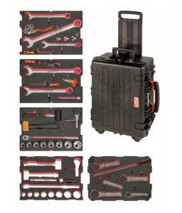 4750RCHDW02FF15 Βαριάς χρήσης σκληρή βαλίτσα για ανεμογεννήτριες σετ εργαλείων - 36 τεμάχια BAHCO