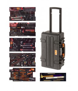 4750RCHDW01FF1 Βαριάς χρήσης σκληρή βαλίτσα αεροπορικό σετ εργαλείων - 240 τεμάχια BAHCO