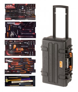 4750RCHDW01FF2 Βαριάς χρήσης σκληρή βαλίτσα αεροπορικό σετ εργαλείων - 159 τεμάχια BAHCO