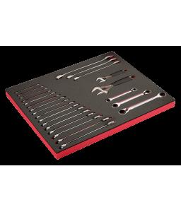 FF1A112 FitandGo 3/3 αφρώδες ένθετο με κλειδιά/Ρυθμιζόμενο κλειδιά σετ - 22 τεμάχια BAHCO