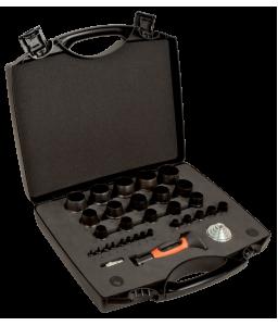 400.002.050 ανταλλάξιμες σγρόμπιες σετ - 32 τεμάχια/πλαστική βαλίτσα BAHCO
