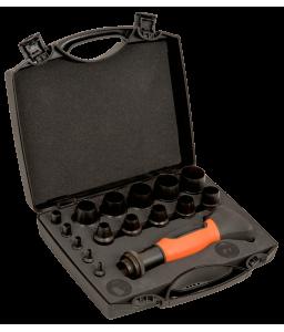 400.003.030 ανταλλάξιμες σγρόμπιες σετ - 16 τεμάχια/πλαστική βαλίτσα BAHCO