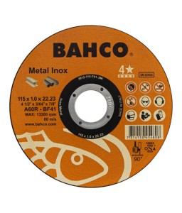 3911-115-T41-IM υψηλής απόδοσης σμυριδόδισκοι κοπής για γενικής χρήσης Inox και μέταλλο BAHCO