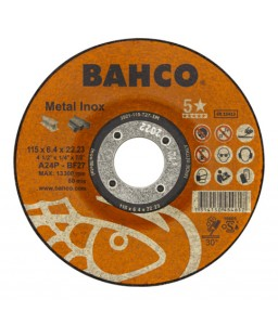 3921-115-T27-IM υψηλής απόδοσης σμυριδόδισκοι λειάνσεως για Inox και μέταλλο BAHCO