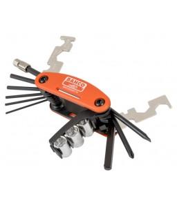 BKE850901N σετ αναδιπλούμενα εργαλεία ποδήλατου ανομοιογενή με θήκη BAHCO