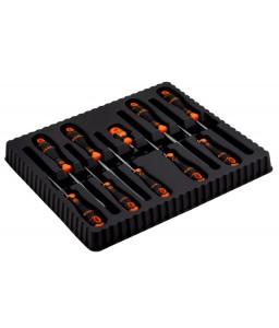 B219.010 BahcoFit ίσια/Phillips/Pozidriv/Robertson κατσαβίδια σετ με λαστιχένια χειρολαβή - 10 τεμάχια BAHCO