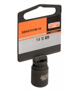 "SBK6701M-10 1/4""καρέ κρουστικό καρυδάκι μετρικό εξάγωνο προφίλ και φωσφατωμένο σε κρεμαστή συσκευασία πώλησης BAHCO"