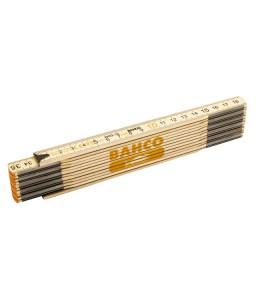 WR2-12 12-τμήματα ξύλινο αναδιπλούμενο μέτρο 2 m μετρικό BAHCO