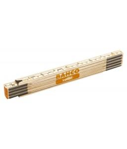WR2 10-τμήματα ξύλινο αναδιπλούμενο μέτρο 2 m ίντσας/μετρικό BAHCO