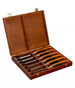 424P-S6-GER σετ κοπιδιών με λαστιχένια χειρολαβή 6-26 mm - 6 τεμάχια/ξύλινη Box BAHCO
