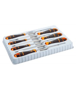 B219.017 BahcoFit ίσια/Phillips κατσαβίδια σετ με λαστιχένια χειρολαβή - 7 τεμάχια BAHCO