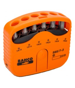 "59S/7-3 1/4"" σετ μύτες για Torx® με τρύπα Resistant βίδες - 7 τεμάχια BAHCO"