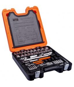 "S106 1/4"" και 1/2"" καρέ σετ καρυδάκια με Σετ Γερμανοπολύγωνα/Γωνιακά κλειδιά BAHCO"