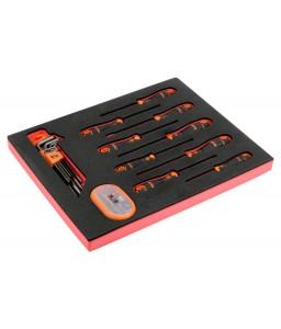 FF1F1008 FitandGo 2/3 αφρώδες ένθετο κατσαβίδι/εξάγωνα κλειδιά/σετ μύτες - 49 τεμάχια BAHCO