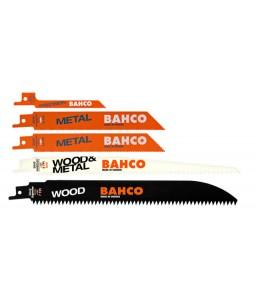 3940-MIX-SET-5P λάμα σπαθόσεγας σετ για ξύλο και μέταλλο - 5 τεμάχια BAHCO
