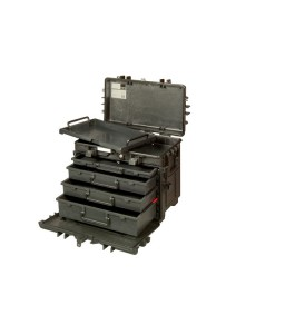 4750RCWD4 150 L τροχήλατη σκληρή βαλίτσα εργαλείων με τηλεσκοπική χειρολαβή και 4 συρτάρια BAHCO