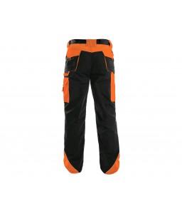 SIRIUS BRIGHTON Παντελόνι εργασίας μαύρο - πορτοκαλί CXS