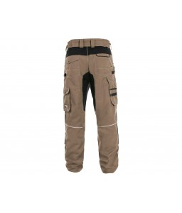 STRETCH Παντελόνι εργασίας ελαστικό μπεζ - μαύρο CXS