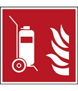 F009 - Πυροσβεστήρας με τροχούς