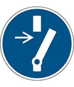 M021 - Αποσυνδέστε πριν από τη διεξαγωγή της συντήρησης ή επισκευής