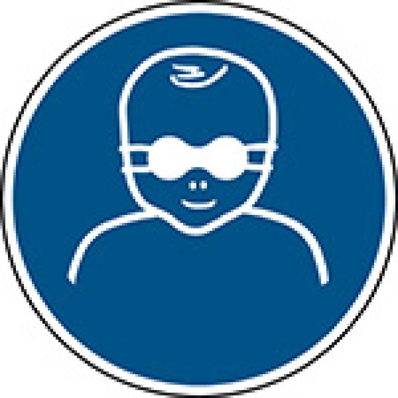M025 - Βρέφη Πρέπει να προστατεύονται με αδιαφανή προστασία ματιών