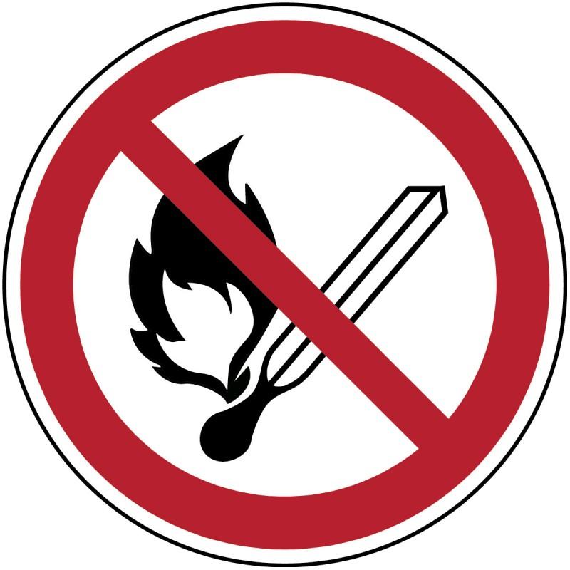 P003 - Απαγορεύεται η ανοικτή φλόγα, η φωτιά, ελεύθερη πηγή ανάφλεξης και το κάπνισμα