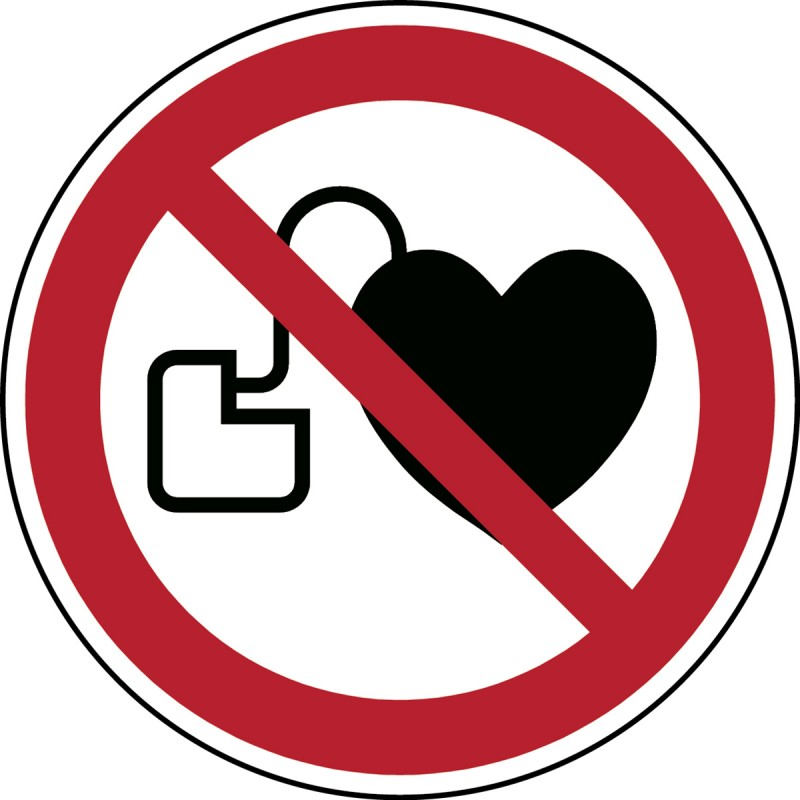 P007 - Απαγορεύεται η πρόσβαση για άτομα με ενεργές εμφυτευμένες καρδιακές συσκευές