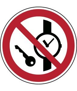 P008 - Απαγορεύονται τα μεταλλικά αντικείμενα ή ρολόγια