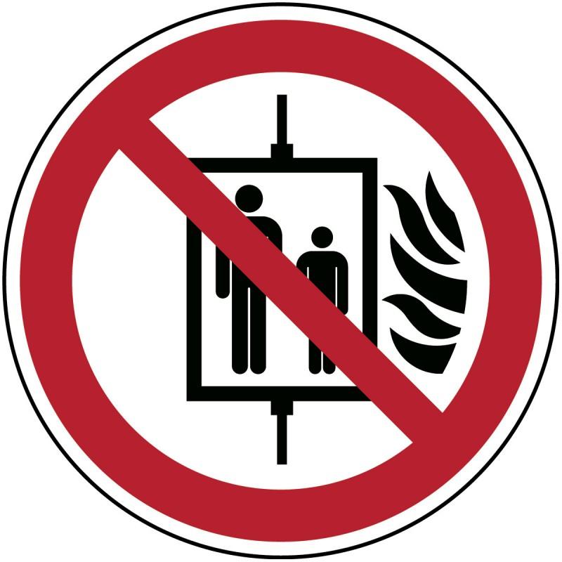 P020 - Μην χρησιμοποιείτε ανελκυστήρες σε περίπτωση πυρκαγιάς