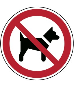 P021 - Απαγορεύονται τα σκυλιά