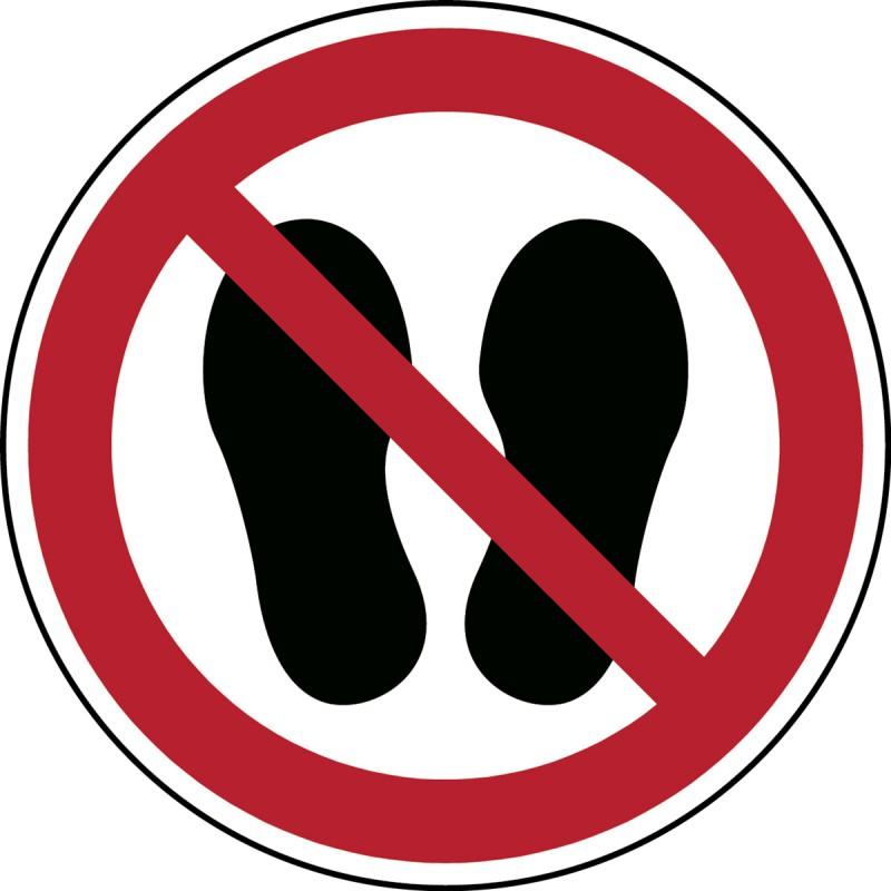 P024 - Μην περπατάτε ή σταθείτε εδώ