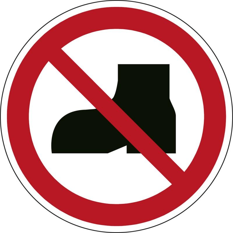 P060 - Απαγορεύονται τα υπαίθρια υποδήματα