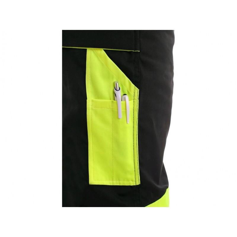 SIRIUS BRIGHTON Παντελόνι εργασίας μαύρο - κίτρινο CXS