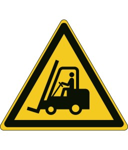 W014 - Προσοχή Ανυψωτικά οχήματα και άλλα βιομηχανικά οχήματα