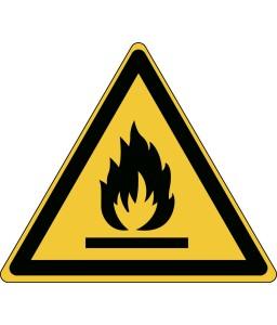 W021 - Προσοχή Κίνδυνος πυρκαγιάς / Εύφλεκτα υλικά