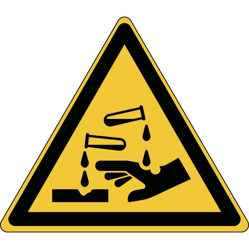 W023 - Προσοχή Διαβρωτική ουσία