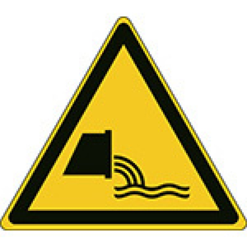 W055 - Προσοχή Εκροή αποβλήτων λυμάτων