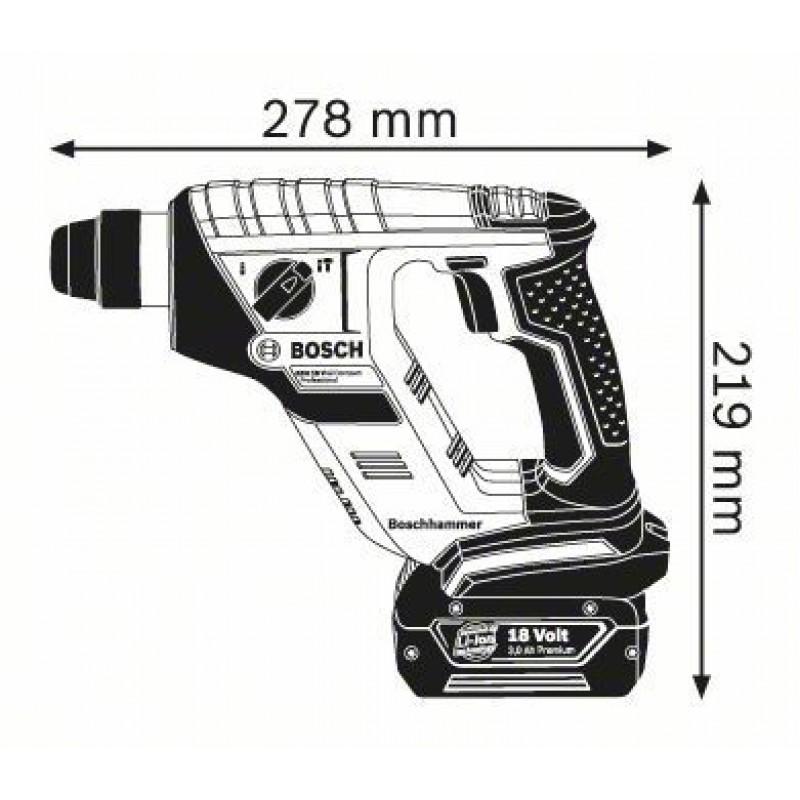 GBH 18 V-LI Compact (2x1,5 Ah) L-Boxx ΠΙΣΤΟΛΕΤΟ Μπαταρίας BOSCH