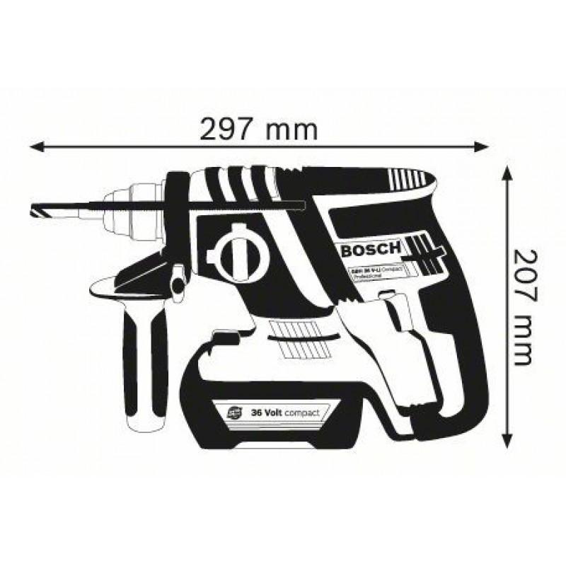 GBH 36 V-EC Compact (2x2,0Ah) L-Boxx ΠΙΣΤΟΛΕΤΟ Μπαταρίας BOSCH
