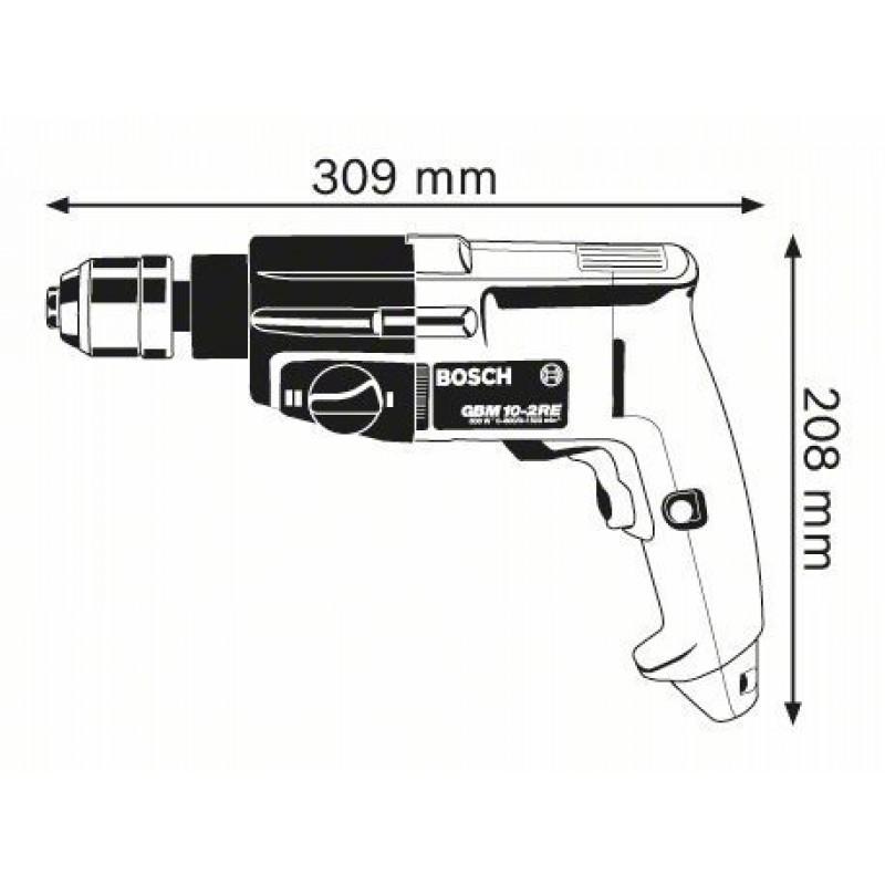 GBM 10-2 RE Δράπανο Δ/Α Ταχυτσόκ Ηλεκτρονικό BOSCH