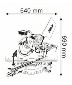 GCM 10 SD Φαλτσοπρίονο RADIAL BOSCH