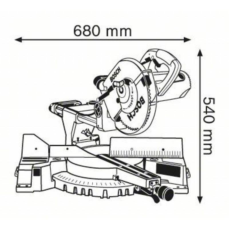 GCM 10 S Φαλτσοπρίονο RADIAL BOSCH