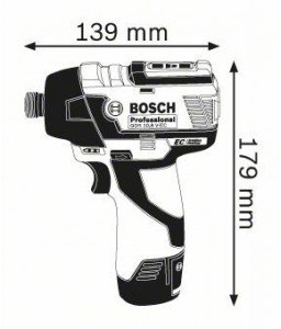 GDR 10,8 V-EC (2x2,5Ah) L-boxx ΠΑΛΜΙΚΟ ΚΑΤΣΑΒΙΔΙ Μπαταρίας BOSCH