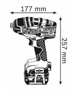 GDR 14,4 V-LI MF (2x4,0 Ah) L-boxx ΠΟΛΥΛΕΙΤΟΥΡΓΙΚΟ ΚΑΤΣΑΒΙΔΙ Μπαταρίας BOSCH