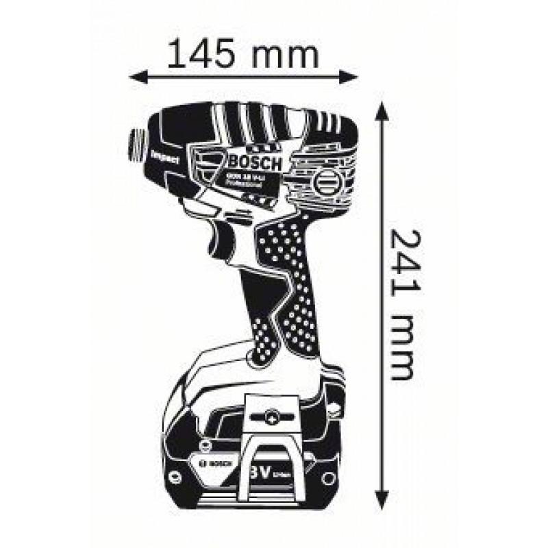GDR 18 V-LI solo (χωρίς μπαταρίες και φορτιστή) L-Boxx ΠΑΛΜΙΚΟ ΚΑΤΣΑΒΙΔΙ Μπαταρίας BOSCH
